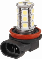 18 LED/SMD H11 LAMP 12V (DRL OPTIEK), PER STUK