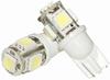 LED SET T10 WIT 5 LEDS PER LAMPJE
